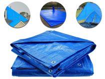 Lona Encerado Carreteiro Azul 75 Micras 5x5 Uso Geral Camping Piscina Caminhão Azul Starfer -