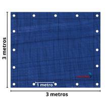Lona Plástica Impermeável 70gsm 3 x 3 Metros Azul IWLP33 Importway -