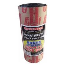 Lona Plástica Preta Maxilona 4 x 50m 10Kg + 10m Grátis - Max Lonas
