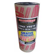 Lona Plástica Preta Maxilona 6 x 50m 15Kg + 10m Grátis - Max Lonas