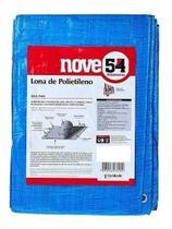 Lona Polietileno 6x5 954 Impermeável Camping Piscina Azul -
