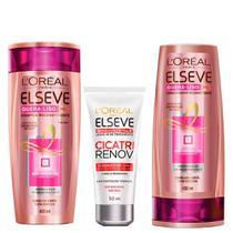 LOréal Paris Elseve Quera-Liso Mq  230º Kit - Shampoo + Leave-In + Ganhe Condicionador -