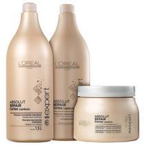 Loréal Professionnel Absolut Repair Cortex Lipidium Kit Salão (3 Produtos) -