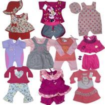 Lote com 10 Roupinhas bebê Menina - Duda Baby Shop