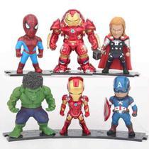 Lote De Bonecos Miniaturas Marvel Vingadores Hulk Buster Tho -