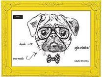Lousa Branca Com Moldura Amarela 21x30 Vintage Retrô Mart -
