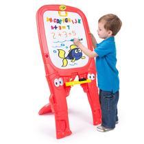 Lousa Infantil Crayola Dupla Face um Lado Giz Outro Caneta -