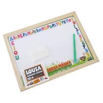 Lousa Infantil Escolar Ensinando 26x36 Com Canetinha e Apagador -