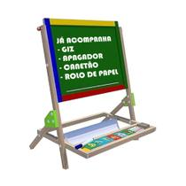 Lousa infantil Quadro para Criança didático brinquedo Educativo Carimbras -