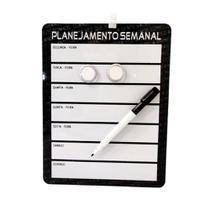Lousa Magnética 21,5x28cm Planejamento Mensal com 4 Peças - Real