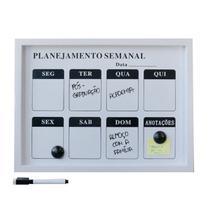 Lousa magnética de plástico planejamento semanal - 30x40cm - Eu Quero Presentear