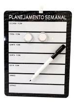 Lousa magnética quadro para recado planner semanal - Interponte
