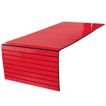 Lugar Americano para Pufe - 35x100 cm - Laminado Vermelho - Evolux