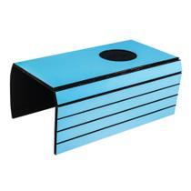 Lugar Americano para Sofá com 1 Espaço para Copo - 40x30 cm - Laminado Azul - Evolux