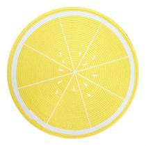 Lugar americano pvc frutas 38 cm redondo limão - niazitex -