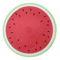 Lugar americano pvc frutas 38 cm redondo melancia - niazitex -