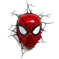 Luminária 3D Light FX Marvel Máscara Homem Aranha -