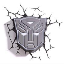 Luminária 3D Light FX Transformers Escudo Autobots -