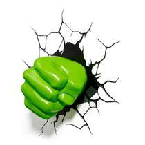 Luminária 3D Light FX Vingadores Punho do Hulk -