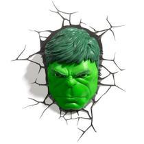 Luminária 3D Light FX Vingadores Rosto do Hulk - Marvel -