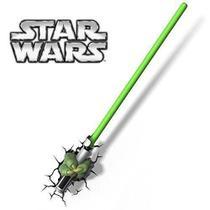 Luminária 3d Star Wars Mão Yoda C/ Sabre - 3D Light Fx