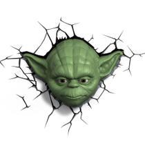 Luminária 3d Star Wars Máscara Yoda - 3D Light Fx