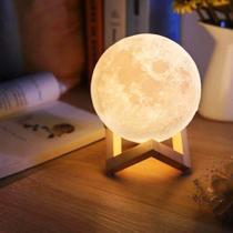 Luminaria 3d Touch Lua Cheia Abajur Led Decoracao Usb Rgb - Importador