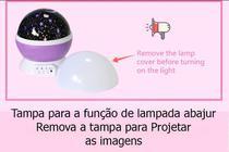 Luminária Abajur Infantil Céu Estrelado Giratório Projetor - Box7