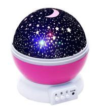 Luminária Abajur Rotativa Festa Criança Neon Quarto Projetor Luz Céu Estrela - Star Master