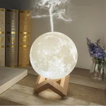 Luminária Abajur Umidificador Aromatizador Lua Cheia 1,5l - Luatek