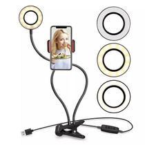 Luminária abajur youtuber ring light suporte celular selfie - Baxiimports