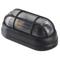 Luminária Arandela Tartaruga Externa Preta Grade E27 - OPL -