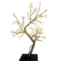 Luminária Árvore Abajur Rosê Gold Flor LED 48 Lâmpadas 45cm 127V - Magizi -