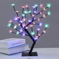 Luminária Árvore Cerejeira Flores 96 Led Colorida 80 cm 8 funções 220 V - Wincy