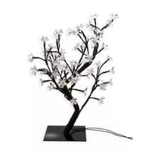 Luminária Árvore Flor De Cerejeira 48 Leds Abajur 110v Rosa - Coisaria