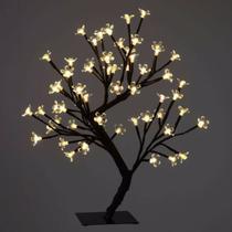 Luminária Árvore Flor De Cerejeira 48 Leds Abajur Bivolt - Coisaria