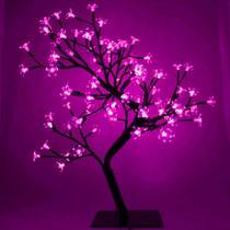 Luminária Árvore Flor De Cerejeira 60 Leds Abajur Wincy -