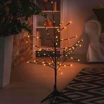 Luminária Árvore Led Natal Abajur Branco Quente 72 Leds 110V - West