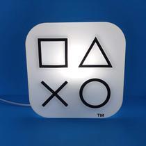 Luminária Box Ícones PlayStation Branco Natural - Decorfun -