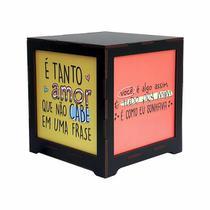 Luminária Box Namorados É Tanto Amor com Você é Assim EM MDF - Shoppingnet