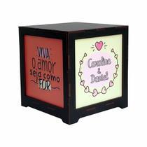 Luminária Box Namorados Nome Personalizado com Viva o Amor EM MDF - Shoppingnet