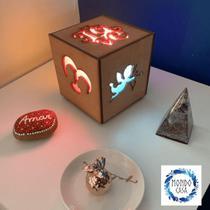 Luminária Box Namorados - Símbolos - Mondo Casa