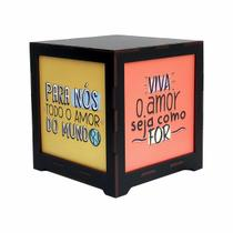 Luminária Box Namorados Viva o Amor EM MDF - Shoppingnet