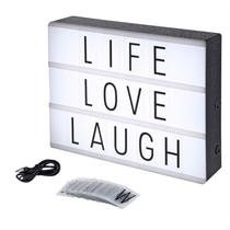 Luminária Cinema Light Box Led A4 + 96 Letras Números Ícones - 97T