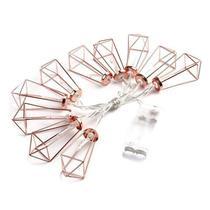Luminária Cordão de Luz Rose Gold Cobre Geométrico - Imp