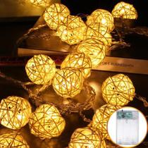 Luminária Cordão Fio De Luz 20 Bolas Bolhas 3m Led Decoração - Não Informada