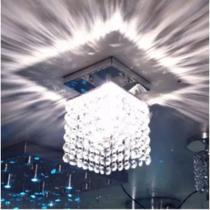Luminaria de Cristal Acrilico para Quarto Cozinha Banheiro - Golden Light