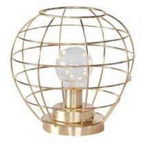 Luminária de Led em Metal Dourado - Decorafast