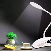 Luminaria De Mesa Led Touch Aticulável Flexível Lamp Usb Garra - Biashop