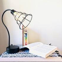 Luminária Decorativa Industrial Preta com Lâmpada Led 35cm - Ef